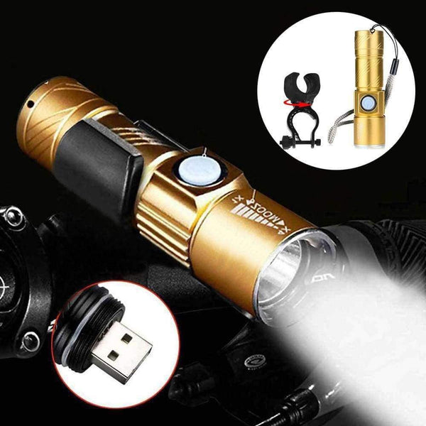 Professional USB Rechargeable Bicycle Flashlight - LifeStar