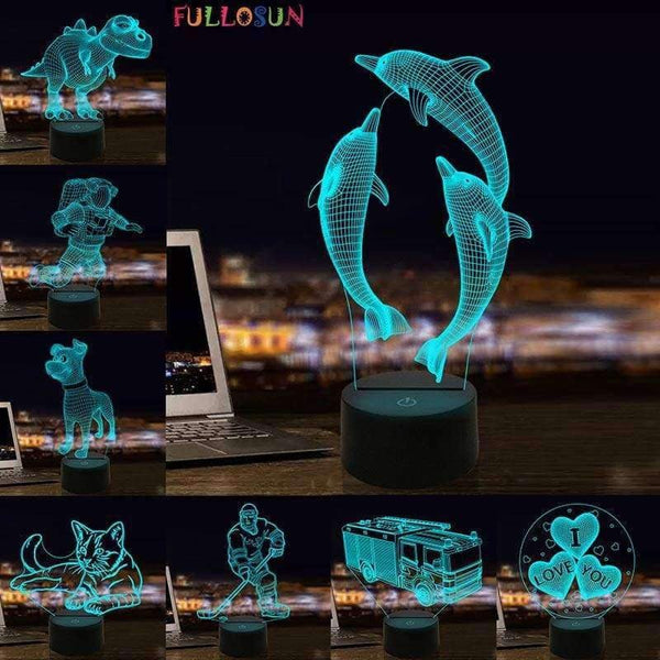 3D Lamp Optical Illusion Night Light - LifeStar