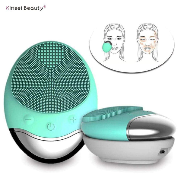 Wireless Charging Electric Silicone Face Cleansing Brush Vibrating Massager