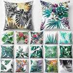 Tropical Cactus Monstera Summer Cushion Cover - LifeStar