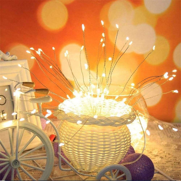 Led Starburst String Light DIY Copper Fairy String Mode Firework Christmas Explosion Wedding lighting - LifeStar