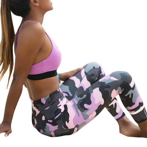 Camouflage Print Fitness Legging
