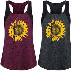 Sunflower Print Vest
