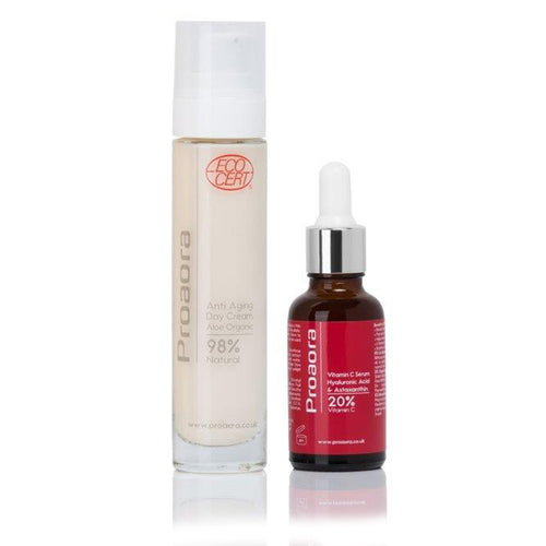 Bundle - Vitamin C Serum & Organic Day Cream Moisturiser 50ml - proaora