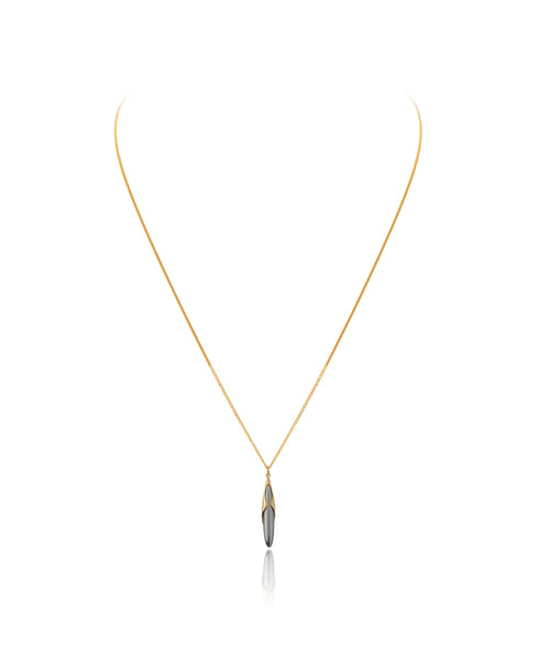 Gold Vermeil & Black Rhodium Adjustable Rice Pendant and Charm - Vurchoo