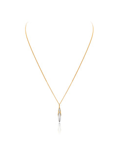 Gold Vermeil & Silver Adjustable Rice Pendant and Charm