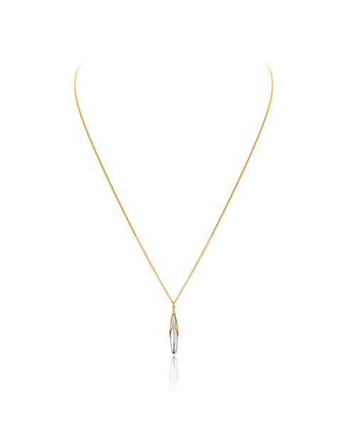 Gold Vermeil & Silver Adjustable Rice Pendant and Charm - Vurchoo
