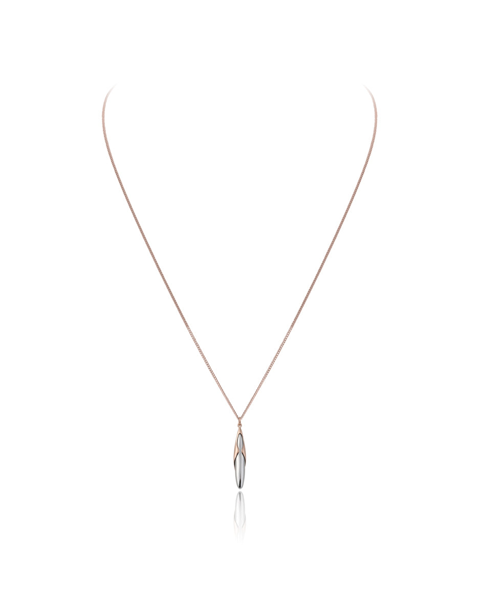 Rose Gold & Silver Adjustable Rice Pendant and Charm - Vurchoo