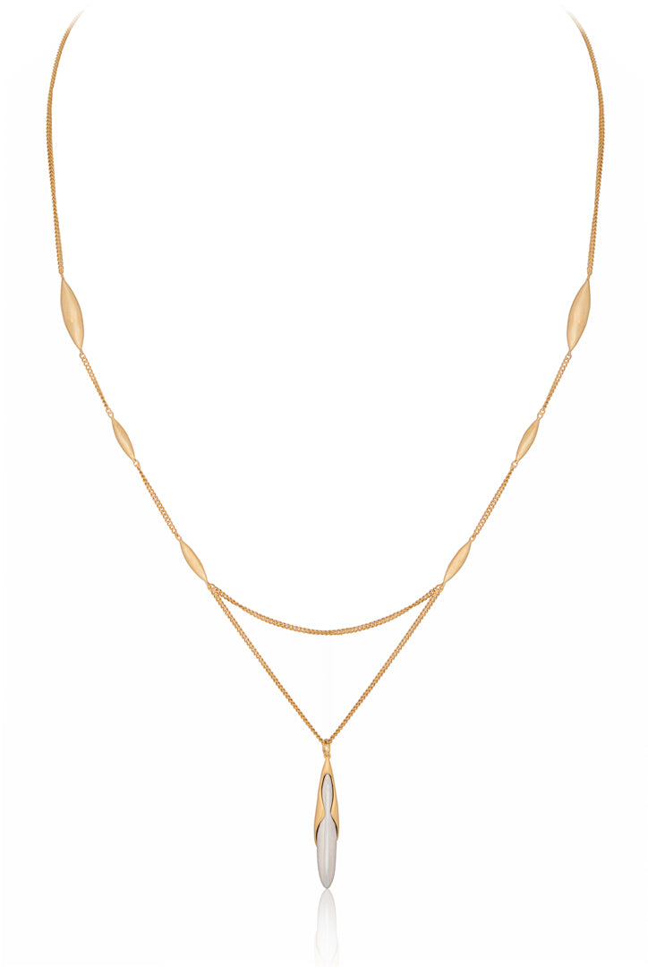 Rice Pendant Gold Vermeil Necklace