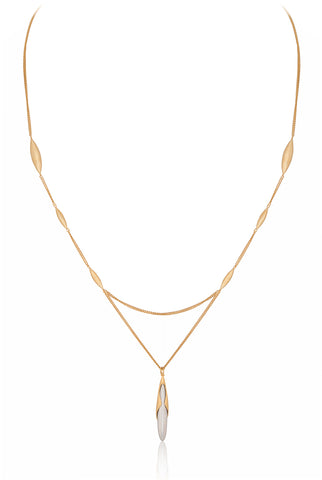 Rice Pendant Gold Vermeil Necklace - Vurchoo