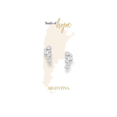Silver Bubbles with Cubiz Zirconia - Argentina