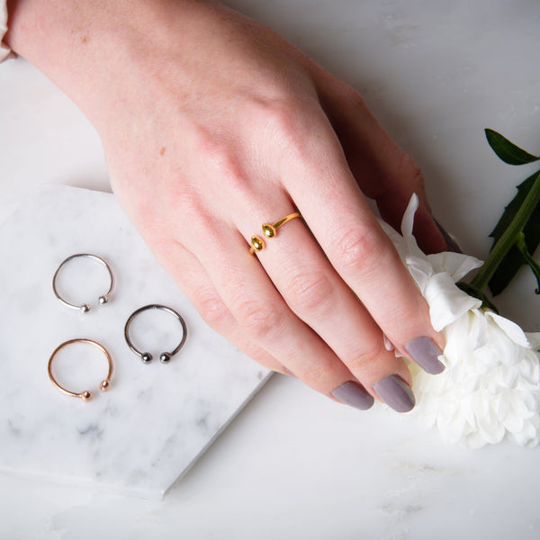 Tear Drop Gold Comfort Ring - Vurchoo