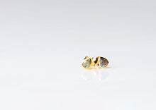 Load image into Gallery viewer, Gold Tear Drop Stone Studs