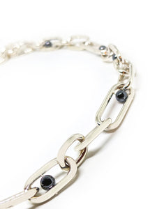 Signature Silver Hematite Multi Play Chain