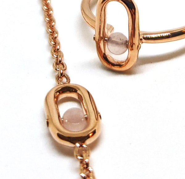 Rose Gold Rose Quartz Bracelet