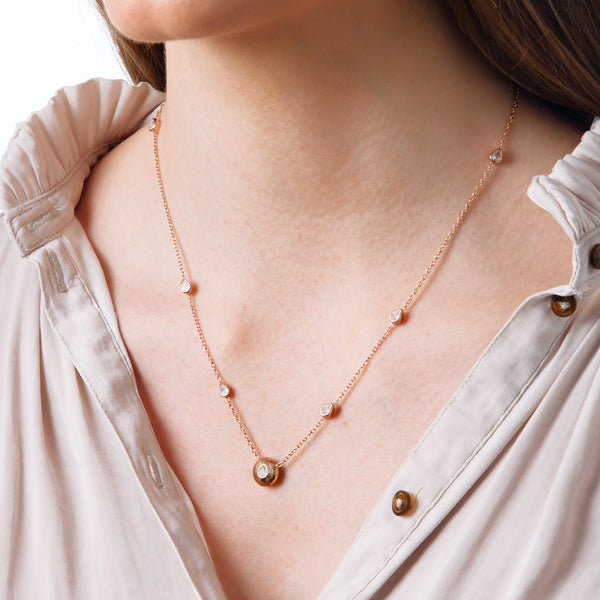 Rose Gold Signature Tear Drop Necklace - Vurchoo