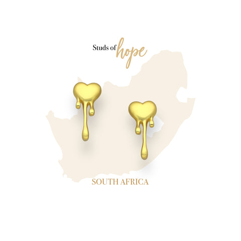 Gold Melting Heart - South Africa