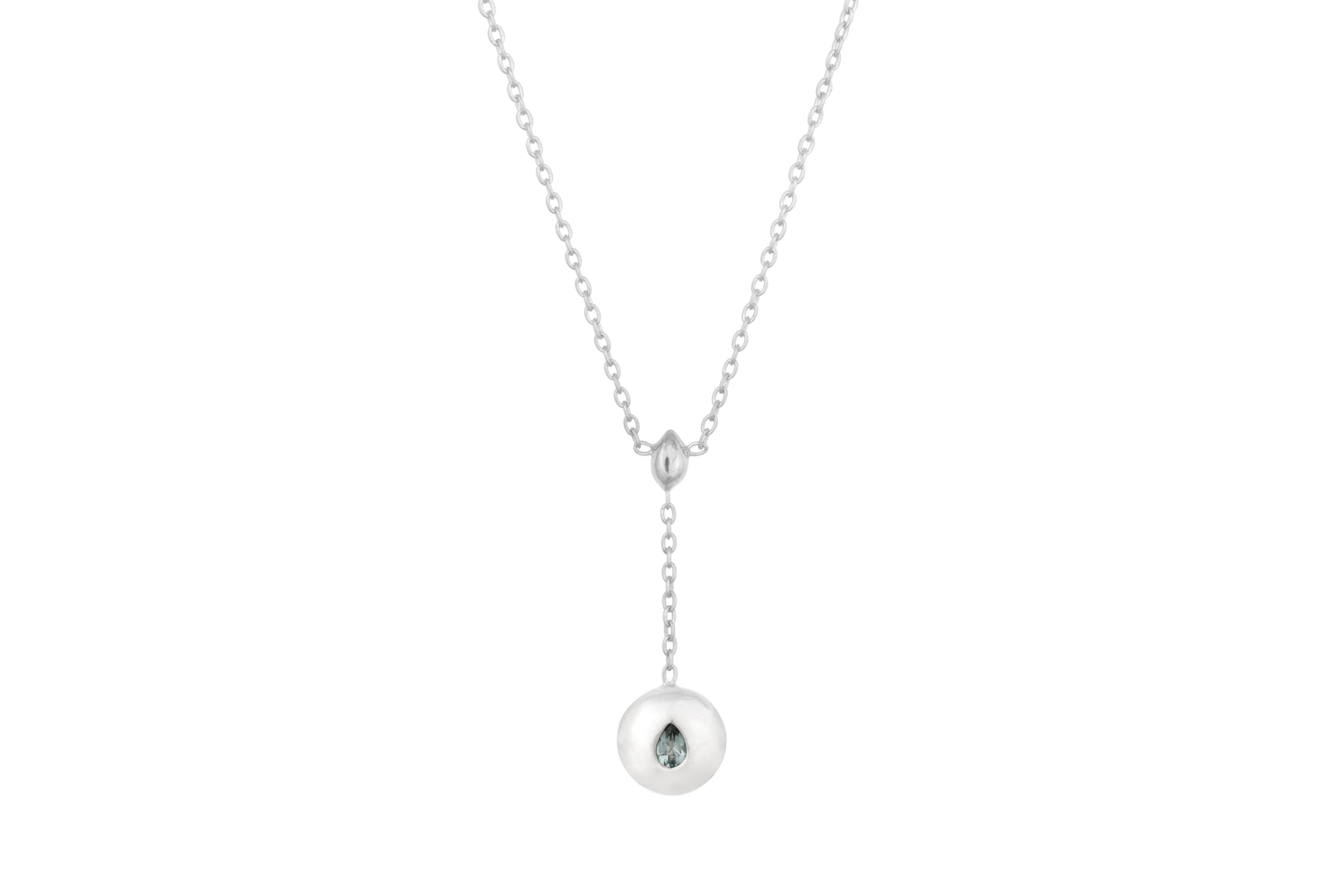 Silver Double Tear Drop Pendant - Vurchoo