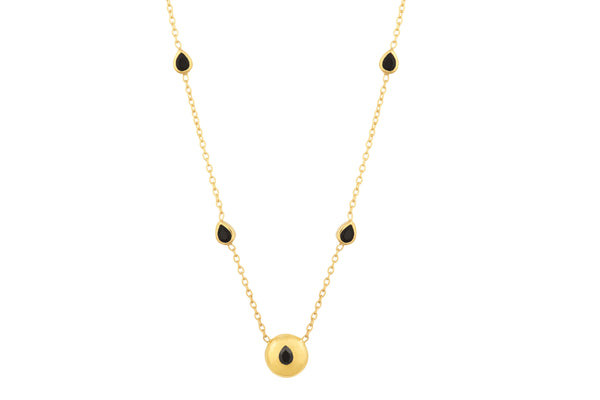 Gold Signature Tear Drop Necklace - Vurchoo
