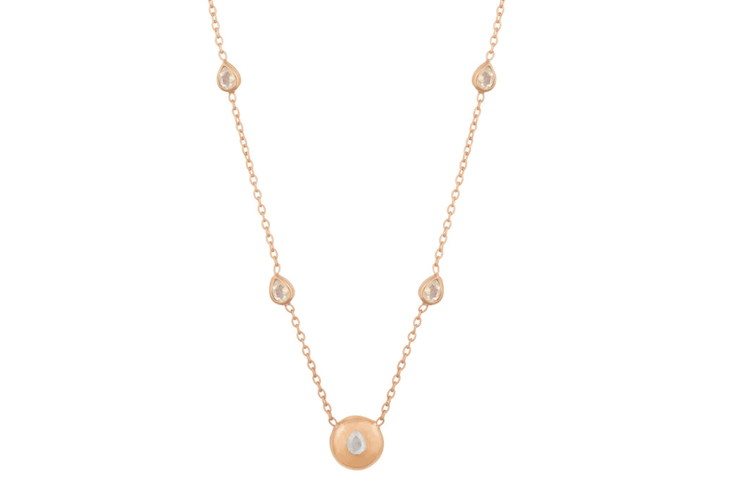 Rose Gold Signature Tear Drop Necklace