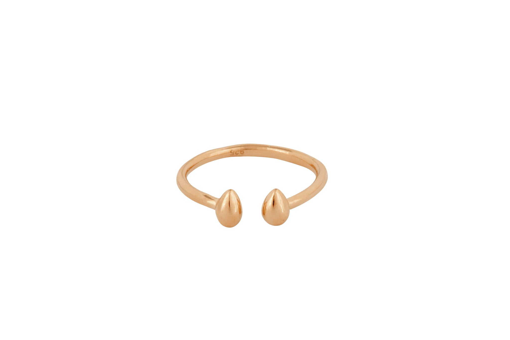 Tear Drop Rose Gold Comfort Ring - Vurchoo
