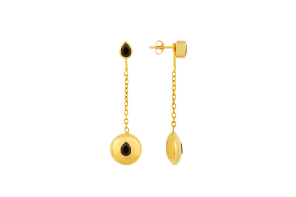 Gold Tear Drop Pendant Attachments & Stud Earrings - Vurchoo