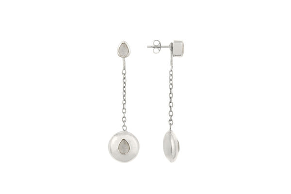 Silver Tear Drop Pendant Attachments & Stud Earrings - Vurchoo