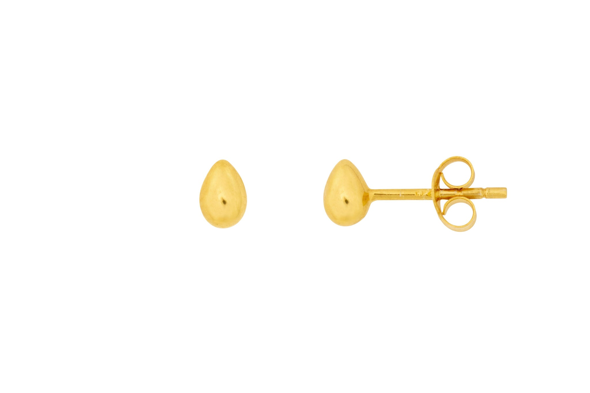 Essential Gold Tear Drop Studs - Vurchoo