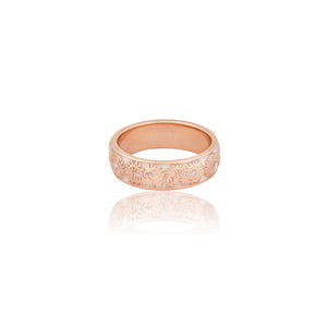 Floral Enamel Rose Gold Ring - Vurchoo