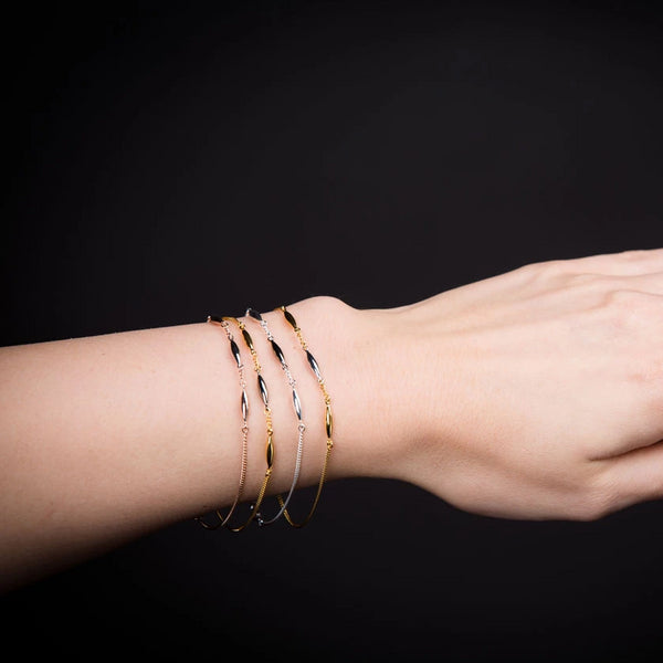 Gold Vermeil & Black Rhodium Rice Bracelet - Vurchoo