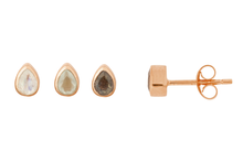 Load image into Gallery viewer, Rose Gold Tear Drop Stone Studs