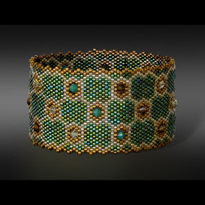 Shaped Swarovski Cuff