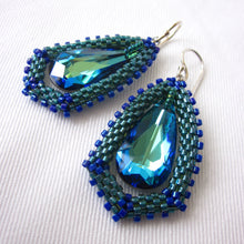 Load image into Gallery viewer, Swarovski Teardrop Surround Earrings