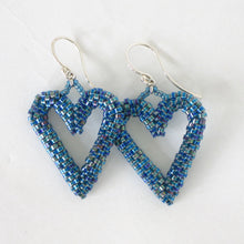 Load image into Gallery viewer, Woven Heart Earrings
