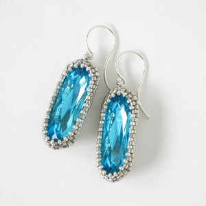 Swarovski Rhinestone Long Drop Earrings