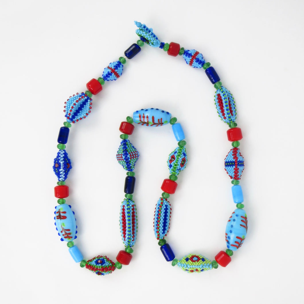 Whimsical Beaded Beads Necklace & Earrings