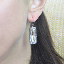 Load image into Gallery viewer, Long Rectangle Swarovski Crystal Rhinestone Earrings