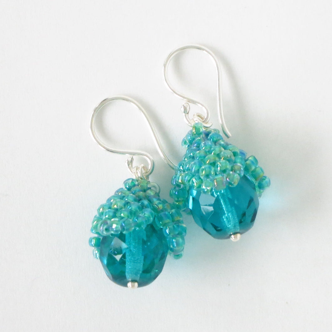 Medium Bead Cap Earrings