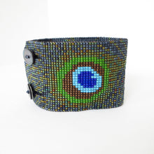 Load image into Gallery viewer, Wide Peacock Bracelet