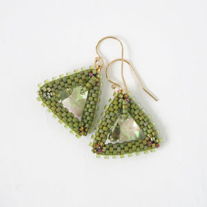Triangle Swarovski Drop Earrings