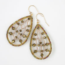 Load image into Gallery viewer, Lacy Dewdrops Earrings with Swarovski Crystals
