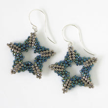 Load image into Gallery viewer, Beaded Star Earrings