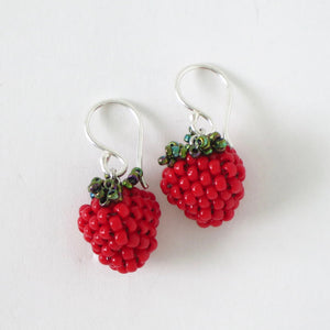 Black/Red Berry Earrings