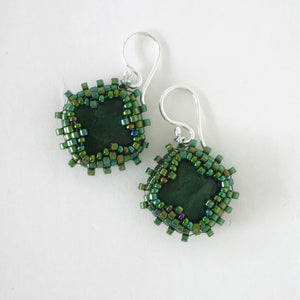 "Green ""Jade"" Earrings"