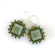 Load image into Gallery viewer, Swarovski Cube Bead Surround Earrings