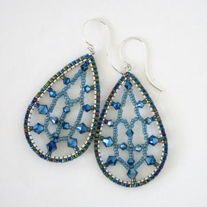 Lacy Dewdrops Earrings with Swarovski Crystals