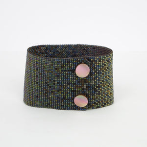 Wide Ombré Button Bracelet