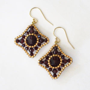 Victorian Quatrefoil Earrings