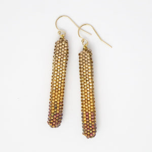 Beaded Column Earrings, Short and Long