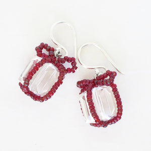 Tiny Wrapped Present Earrings